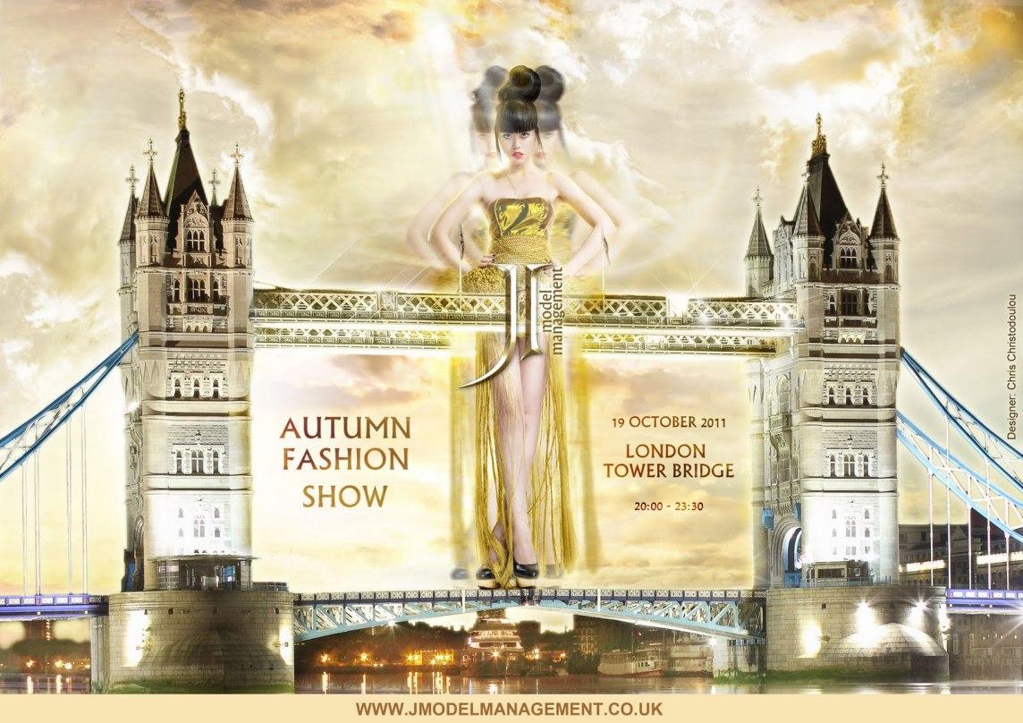 J Autumn Fashion Show on London Tower Bridge - Official Poster 2011