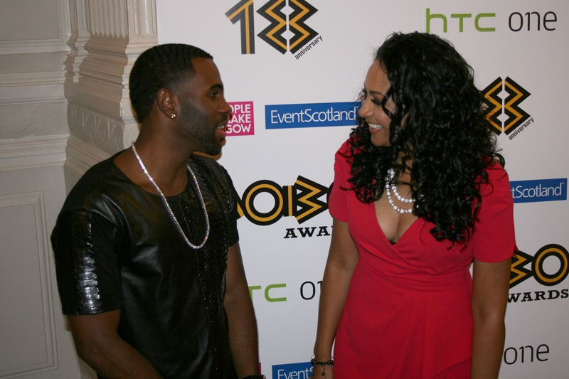 Fridja at the MOBO Nomination Awards 2013