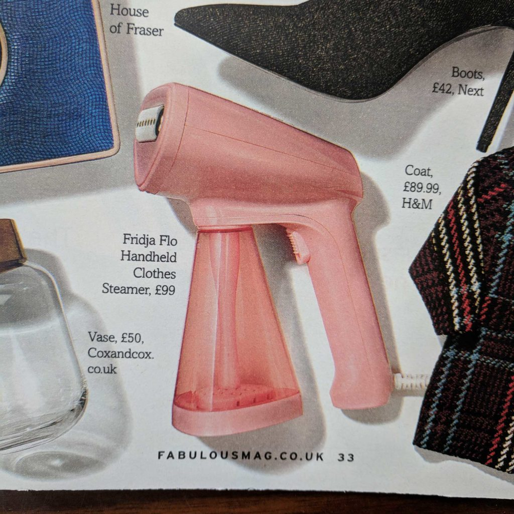 Fridja f10 Handheld Clothes Steamer Fabulous Gift Guide (The Sun)