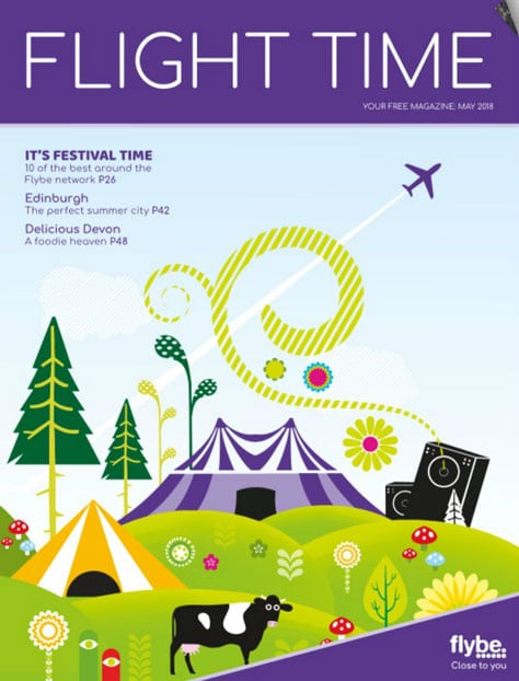 Fridja f10 In Flybe Flight Time Magazine