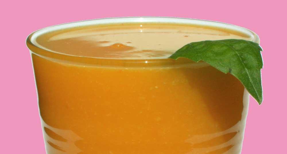 Kiwi, Orange, Carrot and Basil Juice Recipe