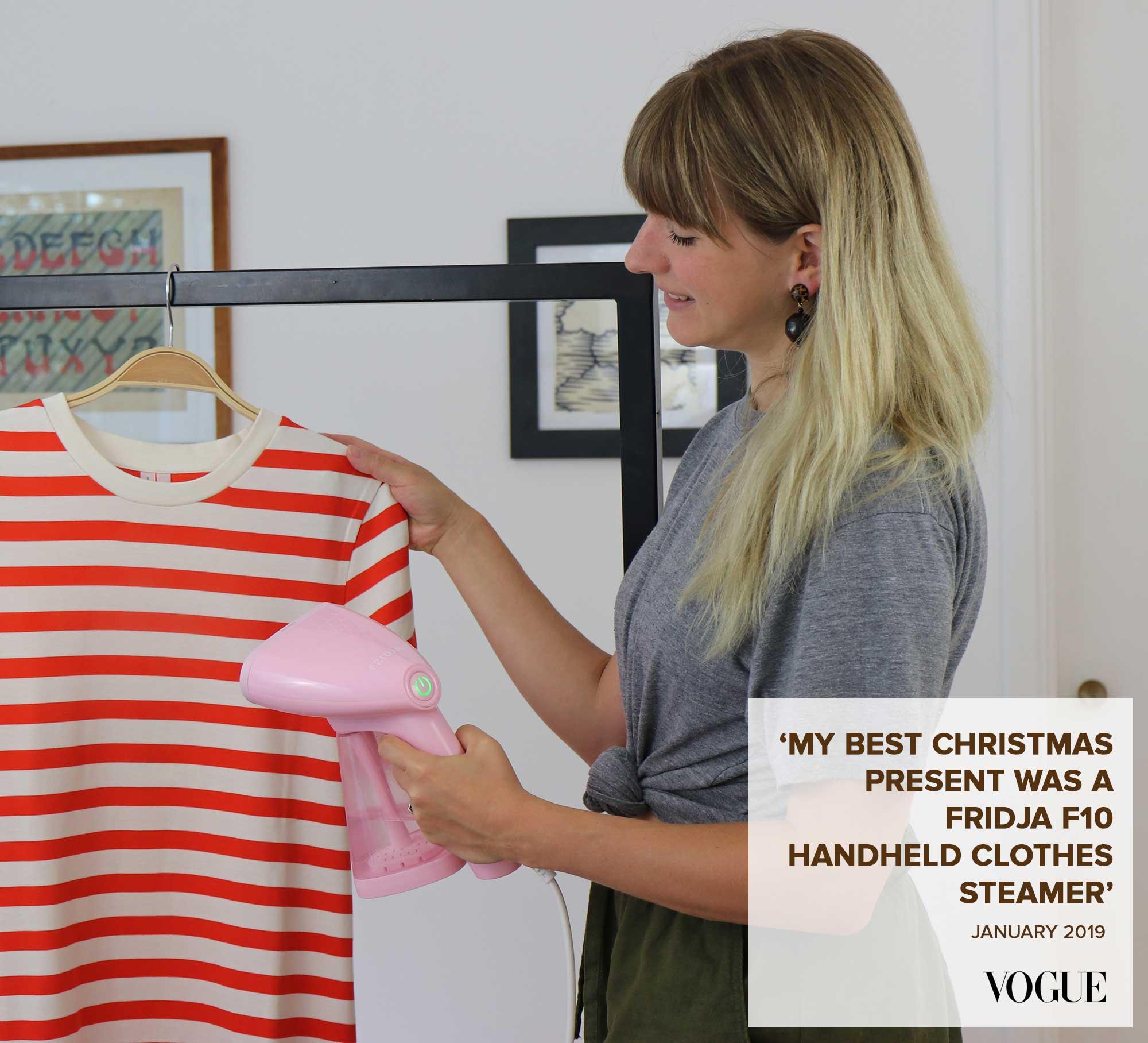 Fridja f10 handheld clothes steamer vogue