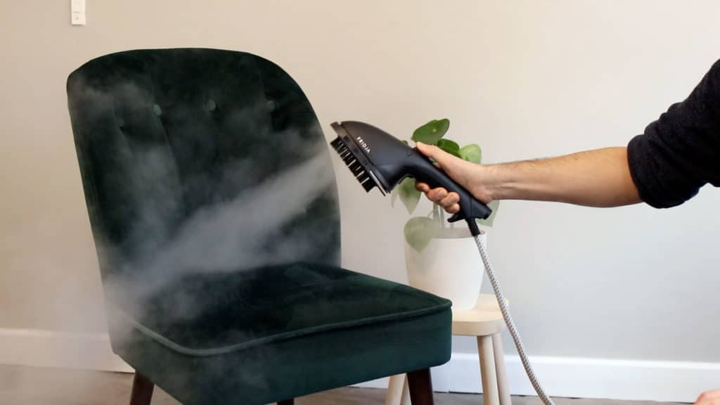 High Pressure Clothes Steamers are great for soft furnishings like sofas, armchairs, bedding and curtains.